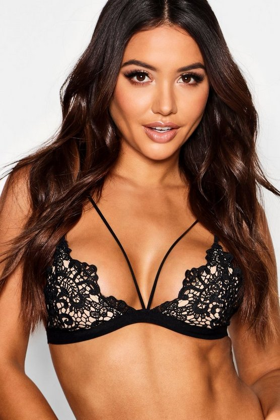 Womens Lace Strap Detail Bralet