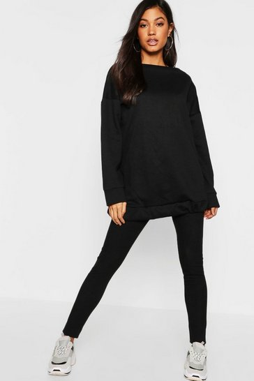Womens Black Oversized Lounge Sweat