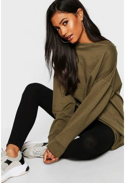 Womens Khaki Oversized Lounge Sweat