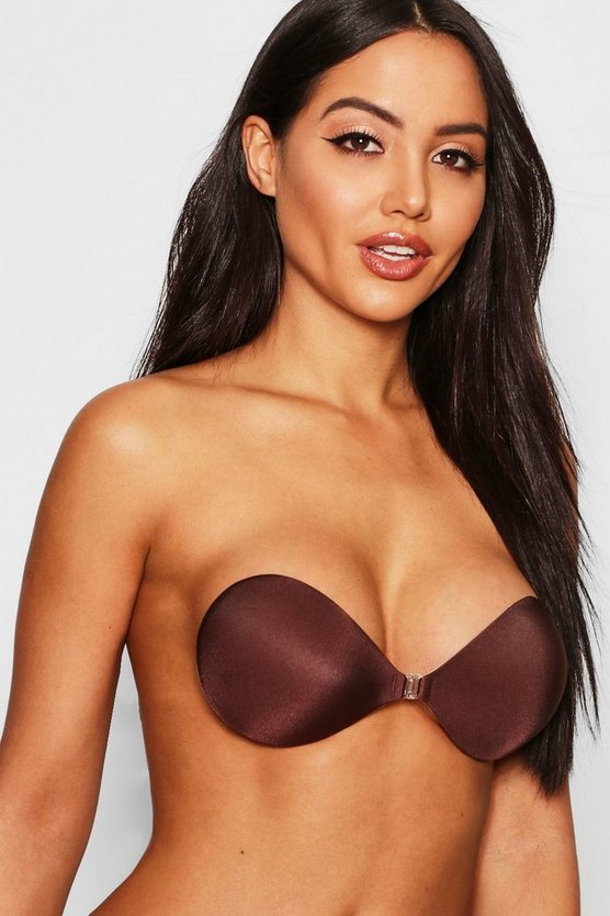 Womens Chestnut Front Fastening Stick On Bra