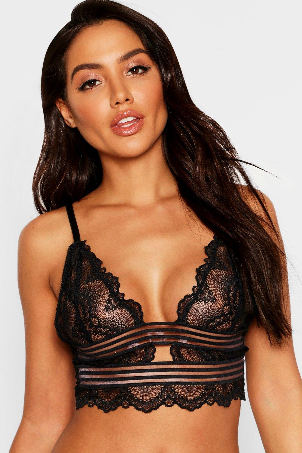 Burnout Stripe Longline Bralet