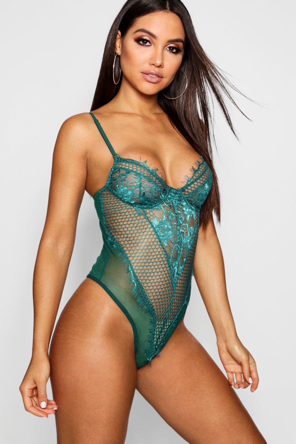 Body Eyelash Fishnet khaki and Lace aTrwTnqt