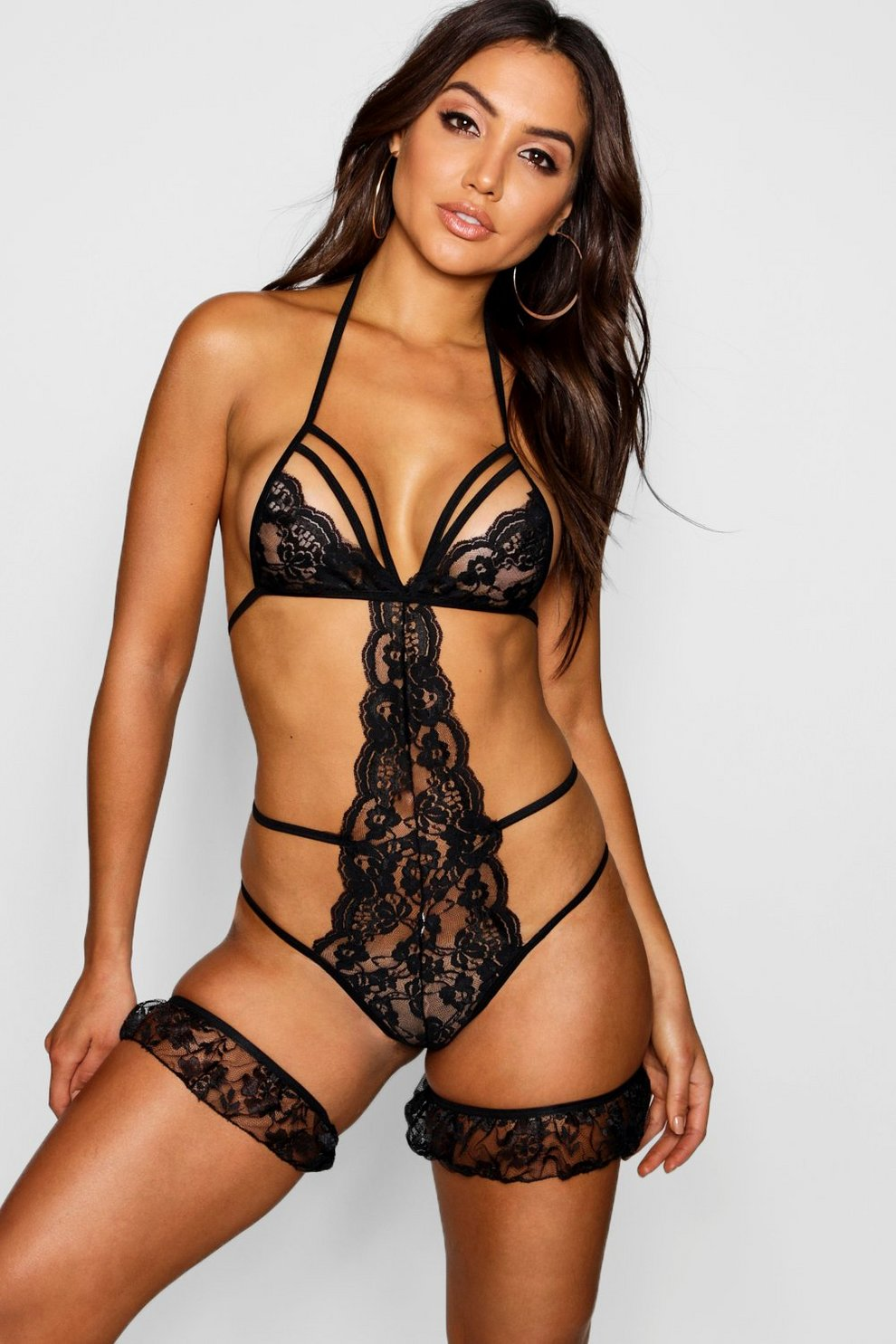 7e62b714901 Lace   Strapping Body   Garter Set
