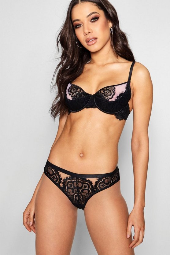Cut Out Lace Brief