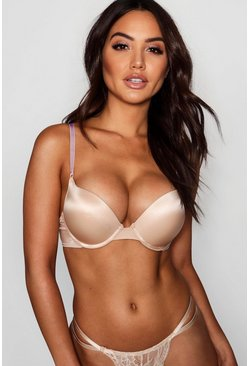 Womens Nude Super Push Up Bra