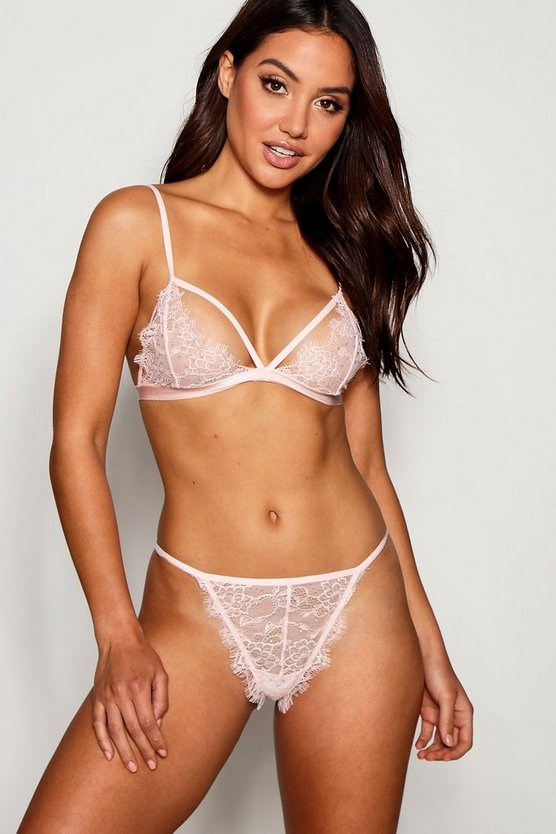 Peyton Diamante & Eyelash Lace Bralet