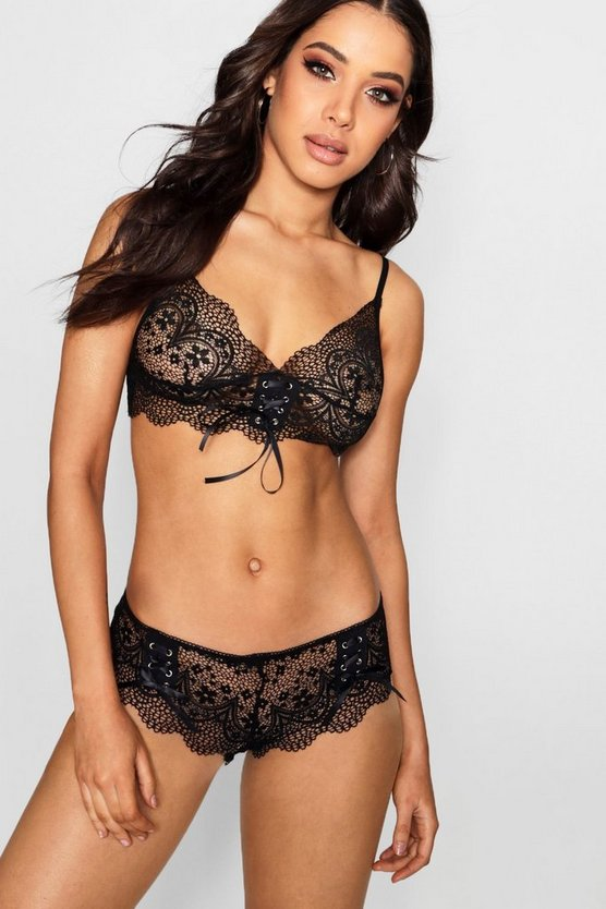 Ribbon Tie Up Lace Brief