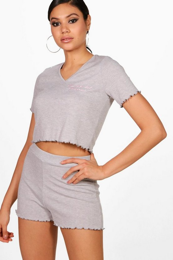 Ribbed Jersey PJ Short Set
