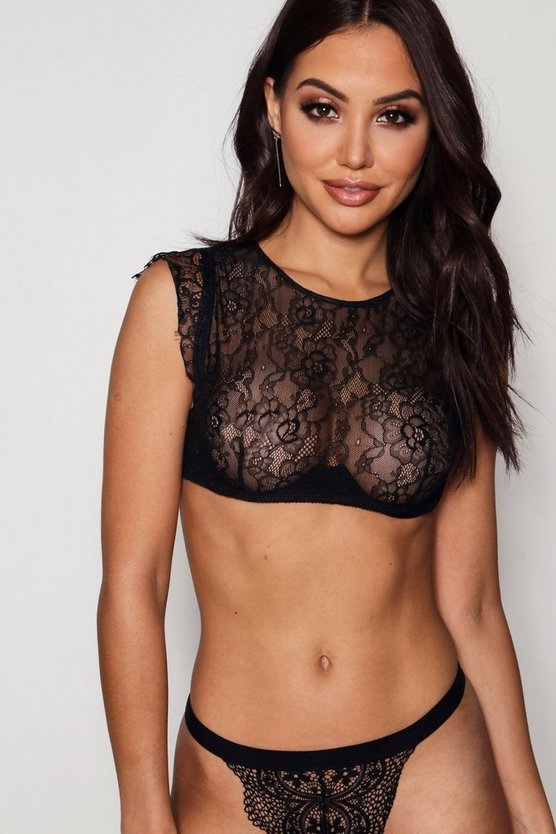 High Neck Lace Bralet