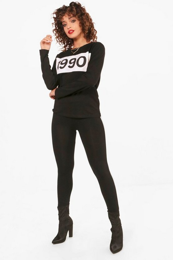 1990 Top & Conjunto de leggings