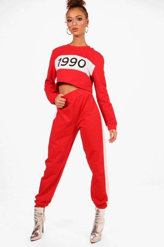 Athleisure 1990 Cropped Tracksuit