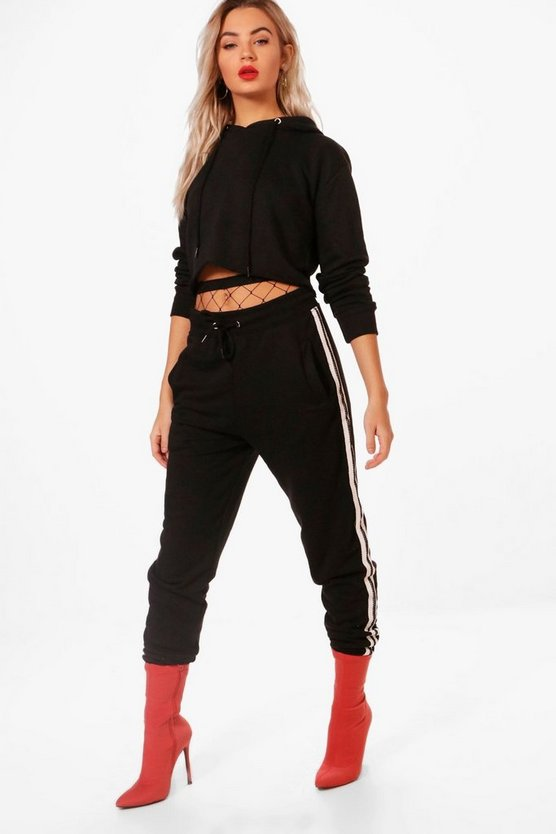 Athleisure Tape Hooded Tracksuit