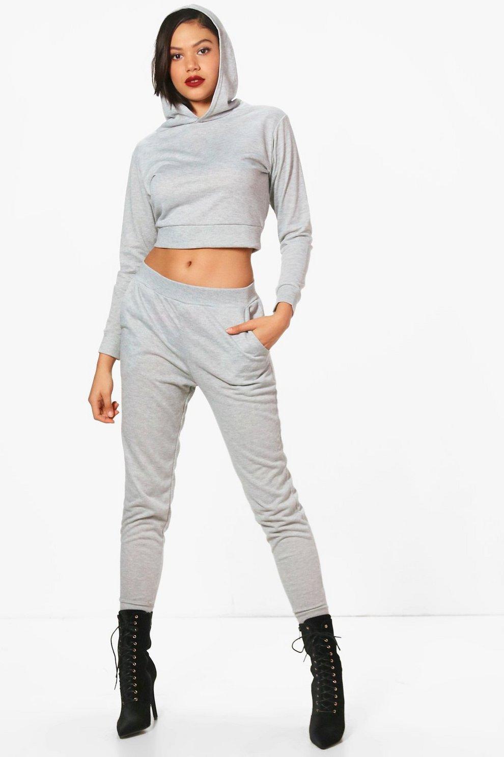 hot-vente dernier styles classiques Prix de gros 2019 olivia ensemble jogging et hoodie court | Boohoo