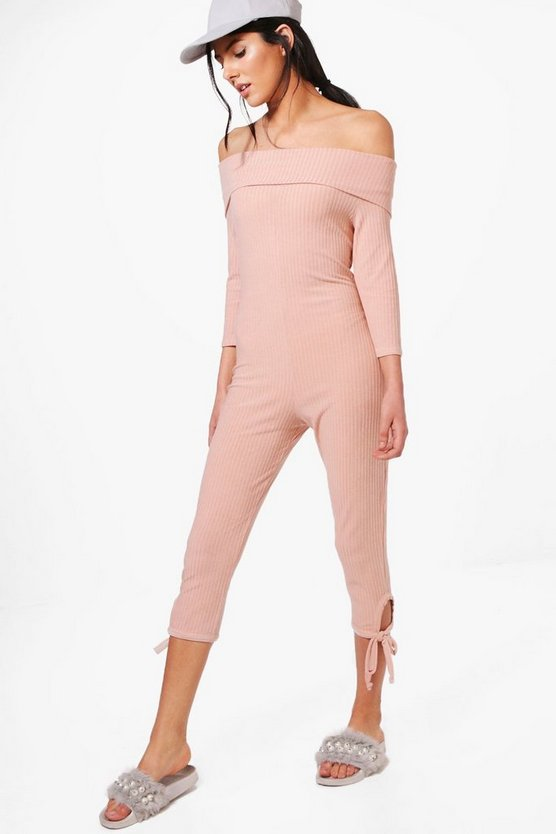 Tilly Bardot 3/4 Jumpsuit
