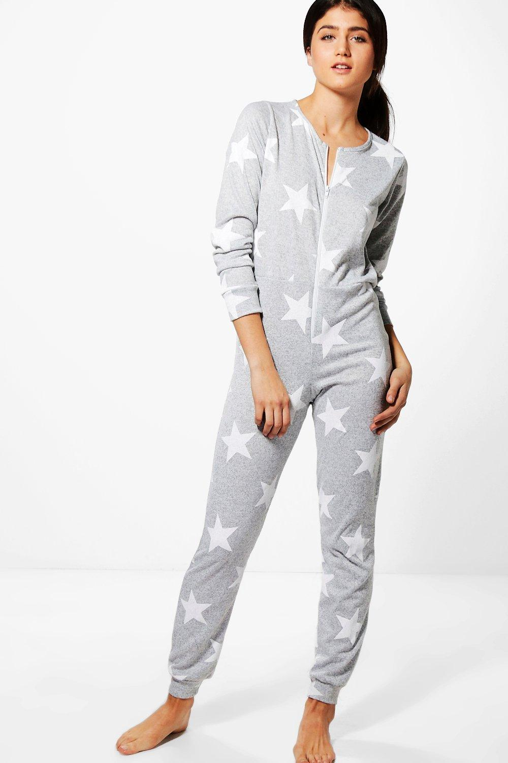 harriet star print onesie boohoo