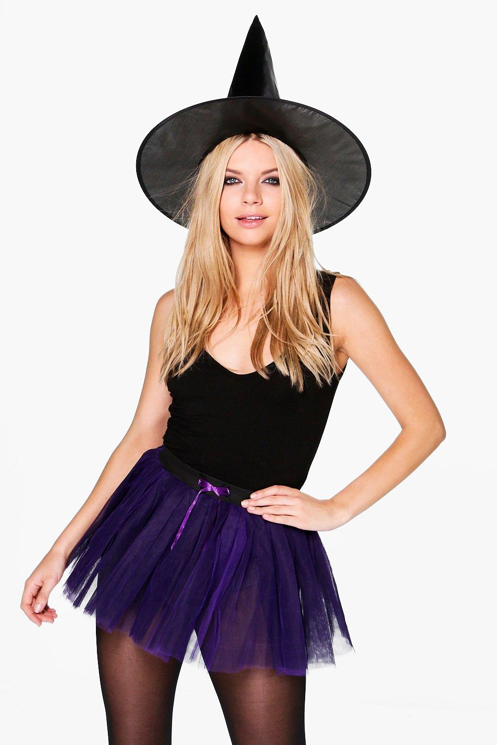 Brooke Fancy Dress Witch Hat + Tutu Set. Hover to zoom  sc 1 st  boohoo & Brooke Fancy Dress Witch Hat + Tutu Set | Boohoo
