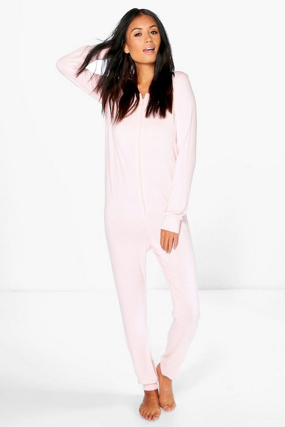 Lottie Plain Zip Through Onesies