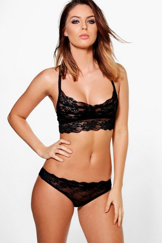 Megan Galloon Lace Longline Bralet