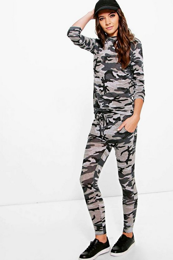 Imogen Camo Knitted Lounge Set