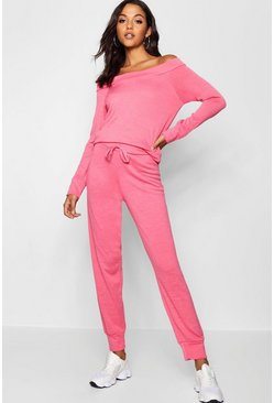 Womens Bardot Lounge Top And Trouser Set