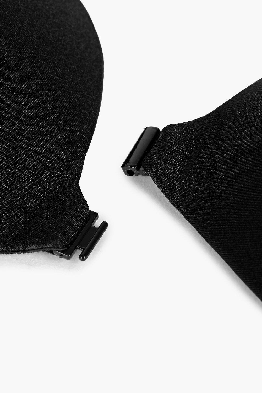 cierre tirantes negro delante con sin Sujetador adhesivo por wfUOqYnz