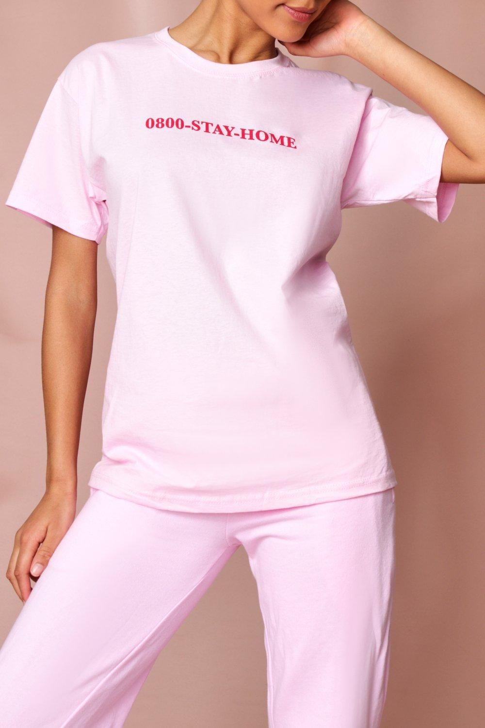 womens nhs stay home charity t-shirt - pink - s, pink