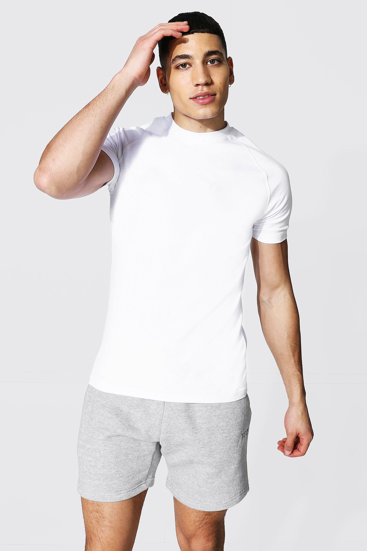 1950s Men's Clothing Mens Muscle Fit Raglan T-shirt - White $6.00 AT vintagedancer.com