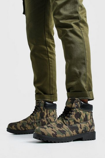 Camo Worker Boots