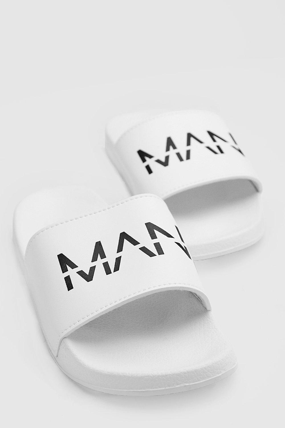 mens man dash slides - white
