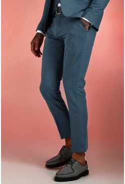 Petrol Plain Skinny Fit Suit Trouser