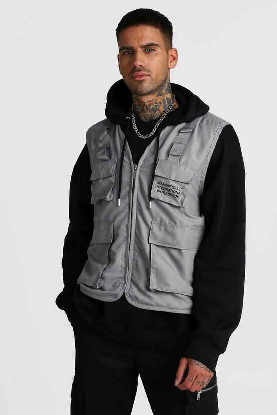 Grey MAN Official Utility Vest With Print