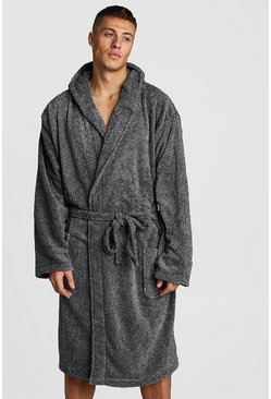 Mens Grey Mens Hooded Katatonic Gown