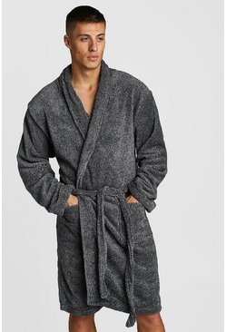 Mens Grey Mens Shawl Collar Katatonic Gown
