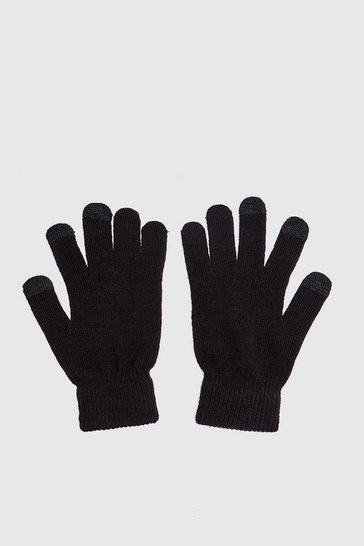 Black Smartphone Touch Screen Gloves