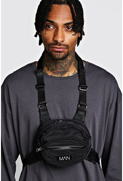 Herr Black Circular Chest Rig With MAN Tab