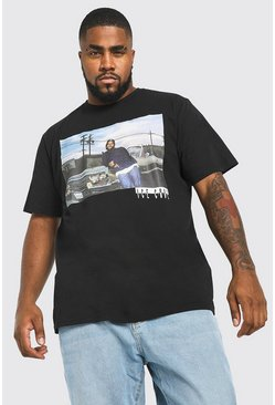 Black Big & Tall - T-shirt med Ice Cube-tryck