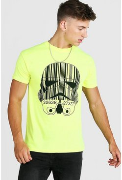 Mens Yellow Star Wars Storm Trooper License Fitted T-Shirt