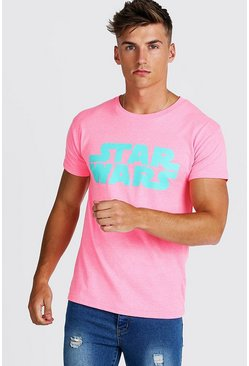 Herr Neon-pink Star Wars Fitted T-Shirt