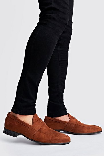 Tan Velvet Loafer