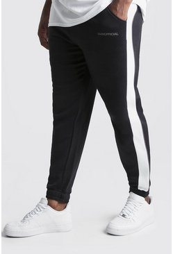 Black Big & Tall MAN Official Tape Joggers