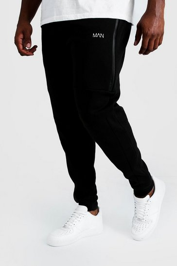 Mens Black Big And Tall Man Dash Biker Jogger