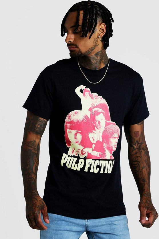 Black Pulp Fiction License T-Shirt