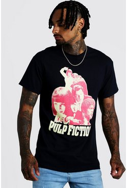 Mens Black Pulp Fiction License T-Shirt