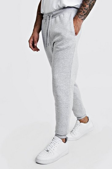 Grey marl Basic Skinny Fit Fleece Jogger
