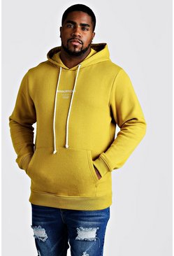 Herr Mustard Big & Tall MAN Official Hoodie With Drawcord