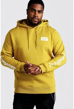 Big & Tall MAN Official Hoodie, Senfgelb, Herren