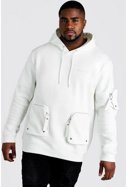Big & Tall MAN Official Hoodie mit Tasche, Naturfarben, Herren