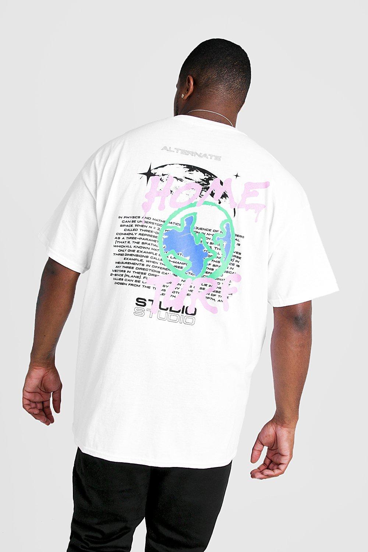 newest 3a1f5 2d169 Big & Tall Home Turf Graffiti Print T-Shirt | Boohoo