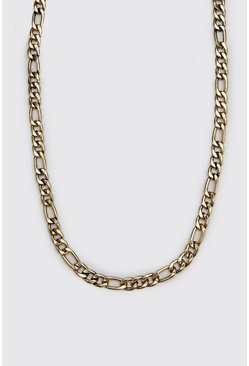 Mens Gold Figaro Chain