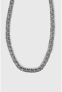 Mens Silver Double Link Chain